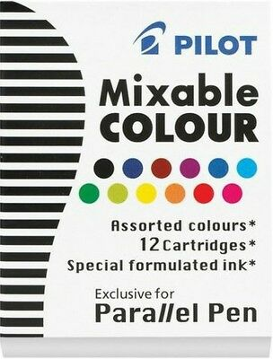 Pilot IC-P3 Parallel Calligraphy Fountain Pen Ink Cartridges | Assorted Colours