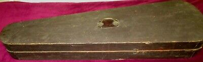 Antique Hand Made Wooden Black Coffin Style Violin/Fiddle Case 1885