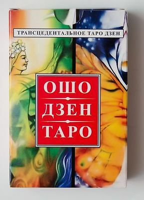 New Osho Zen Tarot 78 Cards Deck in Russian +manual карты Ошо Дзен Таро оракул