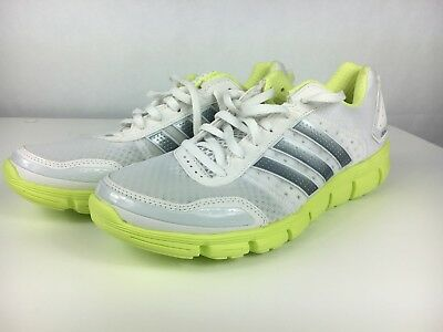hot sale online d76c2 ce9b7 WOMENS ADIDAS CLIMACOOL Aerate 3 White Grey Neon Green running G98528 Sz 10