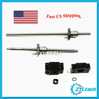 ZYLtech Precision (TRUE C7) Ball Screw 1204 + BF/BK10 End Support 700/850/1000mm
