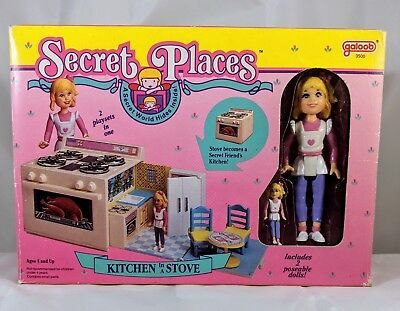 Vintage 1990 Secret Places Kitchen in a Stove playset