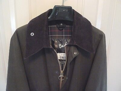 Barbour-  A835  Classic Bedale  Waxed Cotton Jacket-Olive-Made @ England-Size 44
