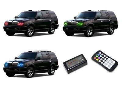 LED Headlight Halo Ring RGB Colorfuse Kit for Lincoln Navigator 98-02