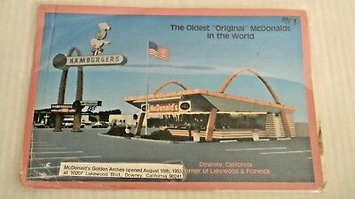 McDonald's Collectible Postcard 1953 Downey California- 1st Resturant