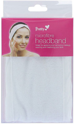 Pretty Microfibre Headband White Removing/Applying Makeup Cleansing/Washing Face