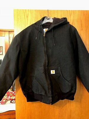 Carhartt for women Large Reg. black hooded coat, quilted lining
