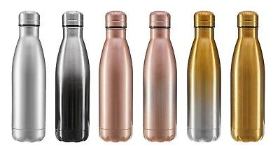 Double-Wall Vacuum Insulated Stainless Steel 16 oz WATER BOTTLE GYM SPORTS YOGA