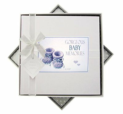 White  Cotton Cards Gorgeous Baby Memories, album fotografico, stivaletti (vd3)