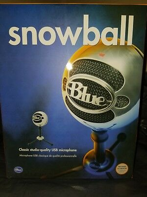 Blue Microphones Snowball USB Condenser Microphone Brushed Aluminum