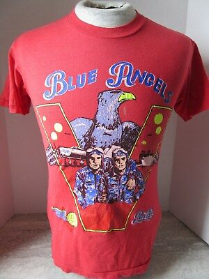 Rare Vintage 1988 Pepsi Cola Blue Angels Victory Red T-Shirt Child's Size XL