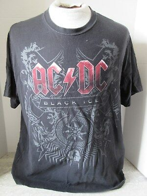2008 AC/DC Black Ice Black T-Shirt Admit One Size Large
