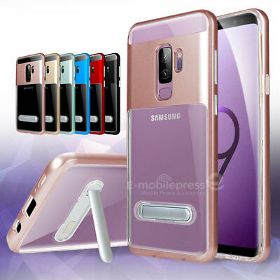Samsung Galaxy S9 S9Plus S8 Clear ShockProof Slim Kickstand Bumper Case Cover