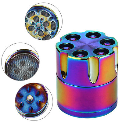 3 Piece Herb/Spice/Weed Alloy Smoke Crusher 30mm Tobacco Grinder Colourful Hot