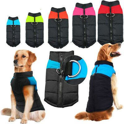 Warm Dog Clothes Winter Waterproof Small Large Pet Dogs Coat Jacket Vest S -7XL