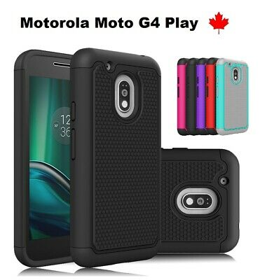 For Moto G4 Play - Hybrid ShockProof Heavy Duty Armor Silicone Hard Cover Case