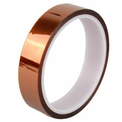 Gold Adhesive Tape High Temperature Heat Resistant 20mm 30m 100ft Polyimide