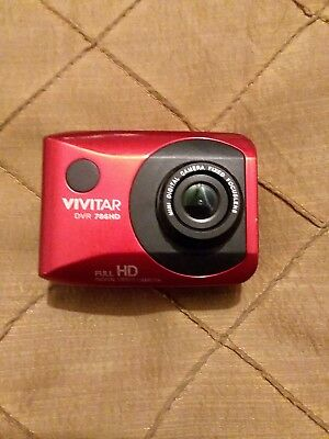 Vivitar DVR786HD-RED-INT1080p HD Action Video Camera Camcorder (Red) Camera Only