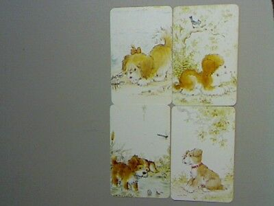 4 Single Swap/Playing Cards - Set Dogs (Sarah Kay) (Blank Backs)#