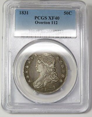 1831 PCGS XF 40 Overton O-112 Capped Bust Half Dollar US Coin Item #18053A
