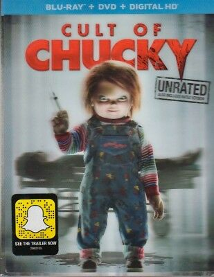 Cult of Chucky 2-Disc Blu-ray/Dvd/Digital w/ Rare Lenticular Slipcover UNRATED