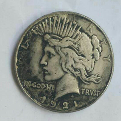 Brass 1921 S Peace Silver Dollar Low Mintage Coin Collection USA Foreign Vintage