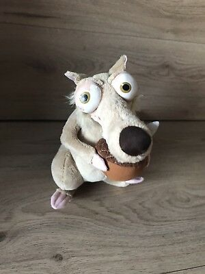 Dreamworks Ice Age 3 Movie Scrat The Squirrel Plush Soft Toy Animal Figure Doll