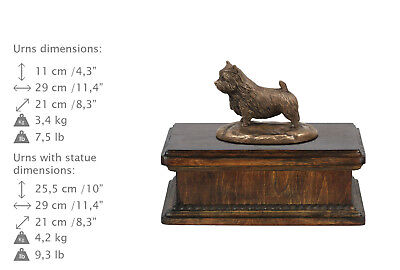 Norwich Terrier, dog exclusive urn made of cold cast bronze, Art Dog, USA