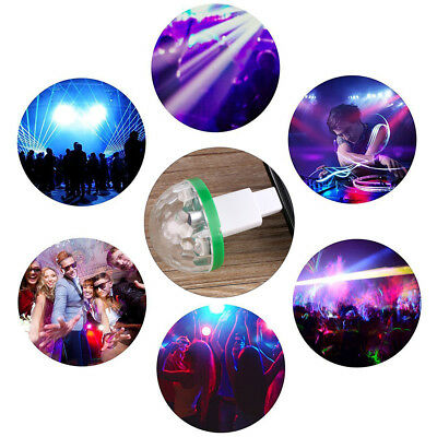 4W USB Mini LED Disco Stage Light Party Club DJ KTV Magic Lamp Ball For Phone