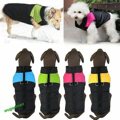 Waterproof Small/ Large Pet Dog Clothes Winter Warm Padded Coat Vest Jacket Lot