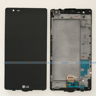 Nero LG X Power X3 K220 LCD Display Touch Screen Digitizer Assembly + Frame NEW