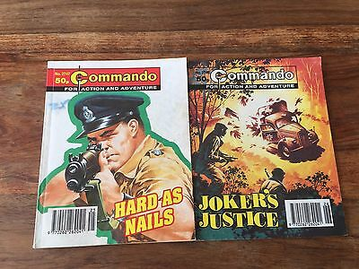 2 Commando comics book no. 2747 and 2748, 2 war stories comic books in pictures