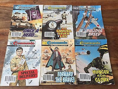 6 Commando comics book no. 2658 to 2663, 6 war stories comic books in pictures