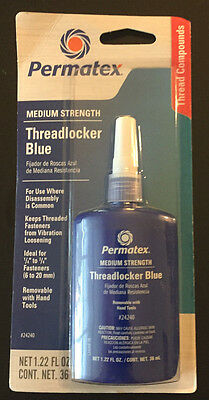 Permatex 24240 Medium Strength Threadlocker Blue, 36 ml