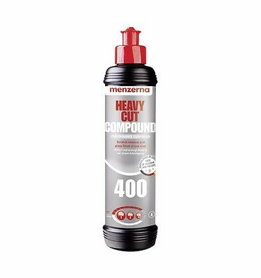 Menzerna Heavy Cut Compound 400 Fast Gloss 400 (FG400) - Polish Paste 250ml NEW