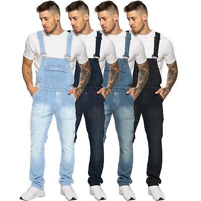"""Enzo Jeans Mens Dungarees Denim Dungaree Overalls Big King All Waists 30"""" - 50"""""""