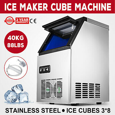 US 90LB Built-In Commercial Ice Maker Undercounter Freestand Ice Cube Machine