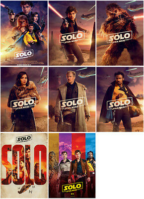 8 Solo:A Star Wars Story Movie 2018 Mirror Surface Postcard Promo Card Poster zj