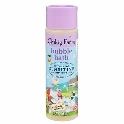 Childs Farm Bubble Bath Contains Organic Tangerine 250ml  1 2 3 6 12 Packs