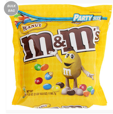 913142 1.19kg NEW RESEALABLE PARTY SIZE BAG OF PEANUT M&M'S CHOCOLATE CANDIES