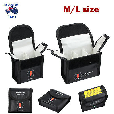 M/L ExplosionProof Lipo Battery Safe Guard Bag Protective Case for DJI Mavic Air