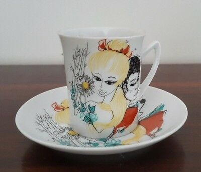 Westminster Fine China Retro Cup and Saucer - 1960s