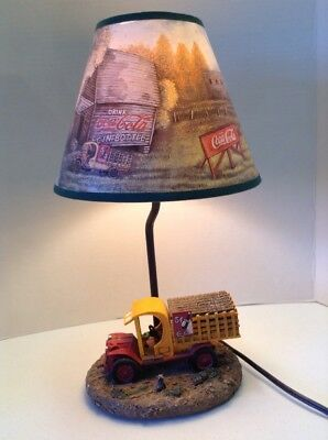 Coca Cola Coke Lamp with Delivery Truck #1639 Complete With Shade