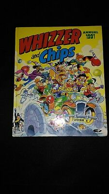 Whizzer And Chips Annual 1991 Vintage U.K Comic Hardback Book