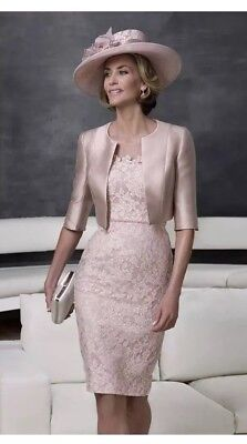 John Charles Mother Of The Bride Groom Pink Lace Dress And