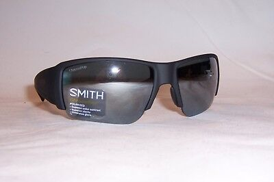 4981e12d07 New Smith Sunglasses Captains Choice s Dl5-Rt Black platinum Polarized  Chromapop