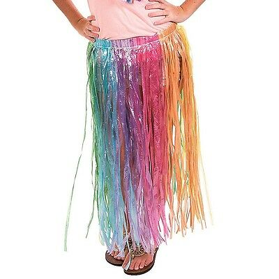 Rainbow Grass Hula Skirt