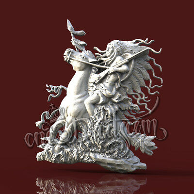 3D Model STL for CNC Router Artcam Aspire Redhead Indian Horse Cut3D Vcarve