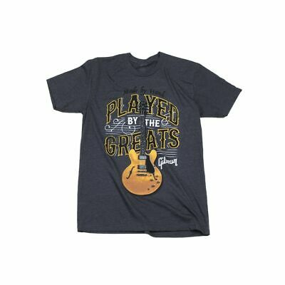 Gibson T-shirt Played By The Greats Charcoal S