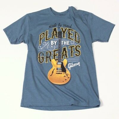 Gibson T-shirt Played By The Greats Indigo L